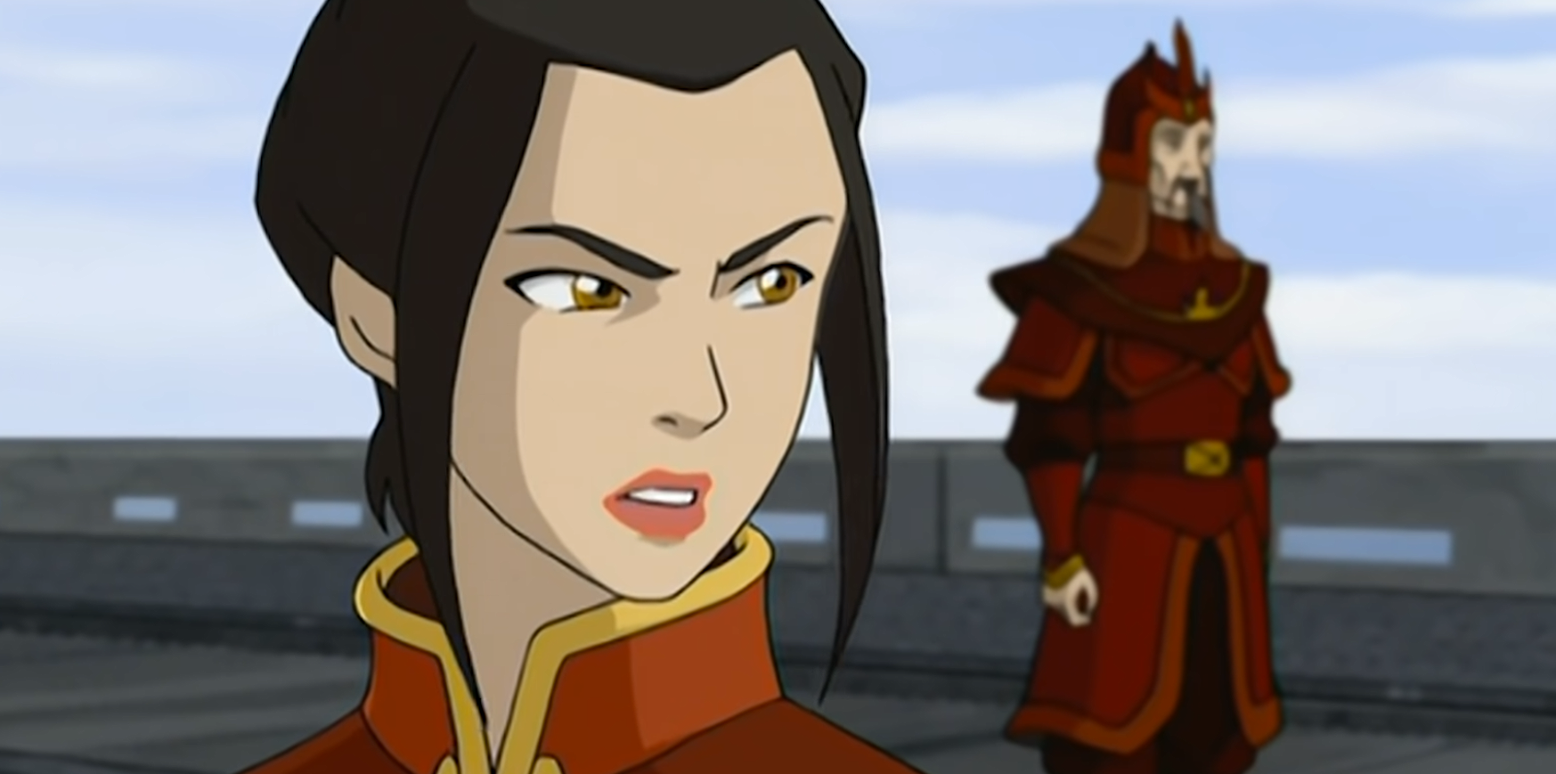 Azula looking angry in Avatar
