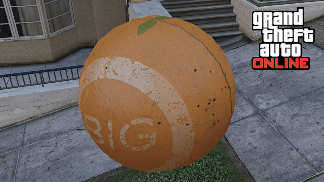 GTA Online character inside a ball