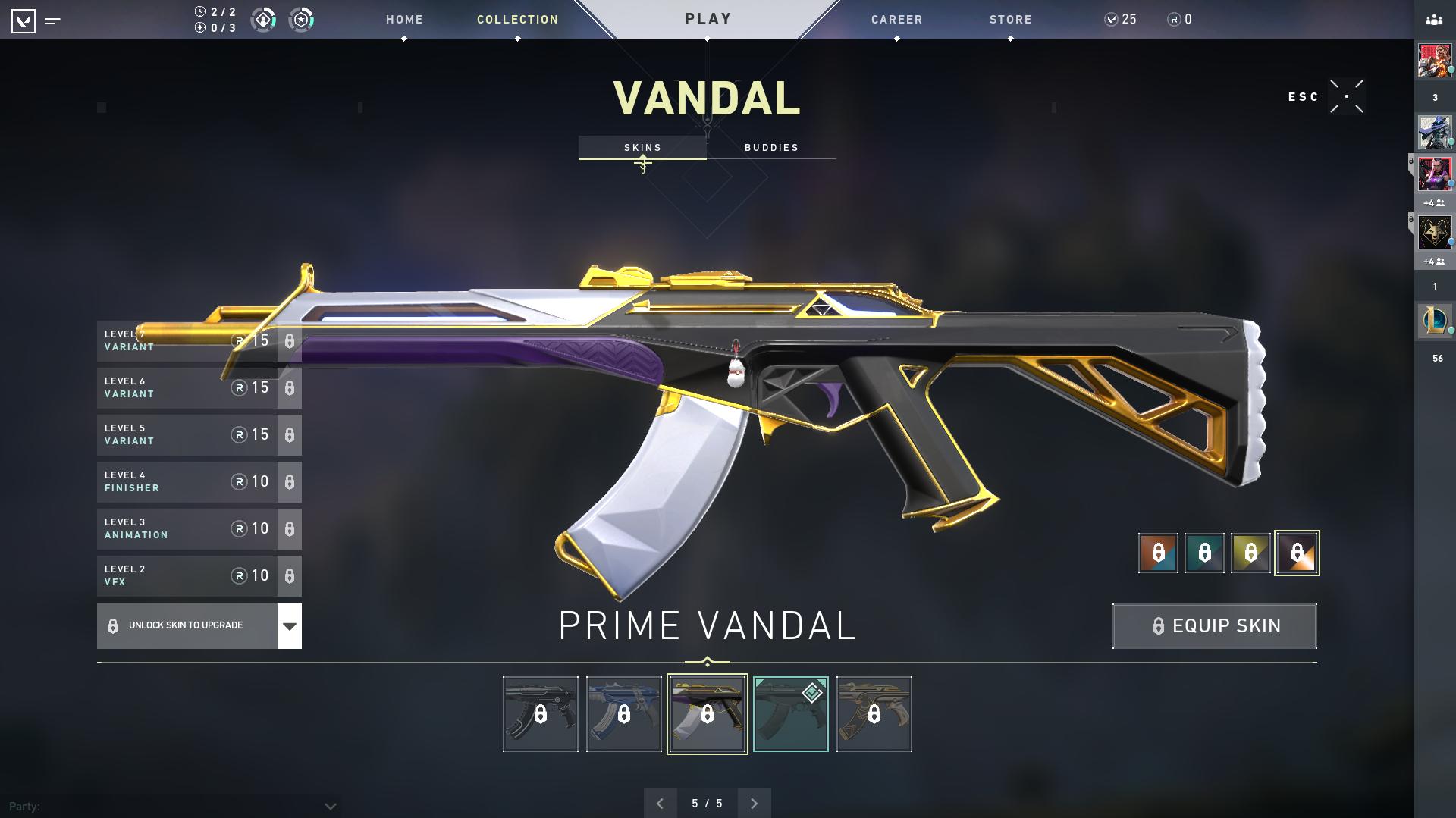 Vandal Prime skin in Valorant.