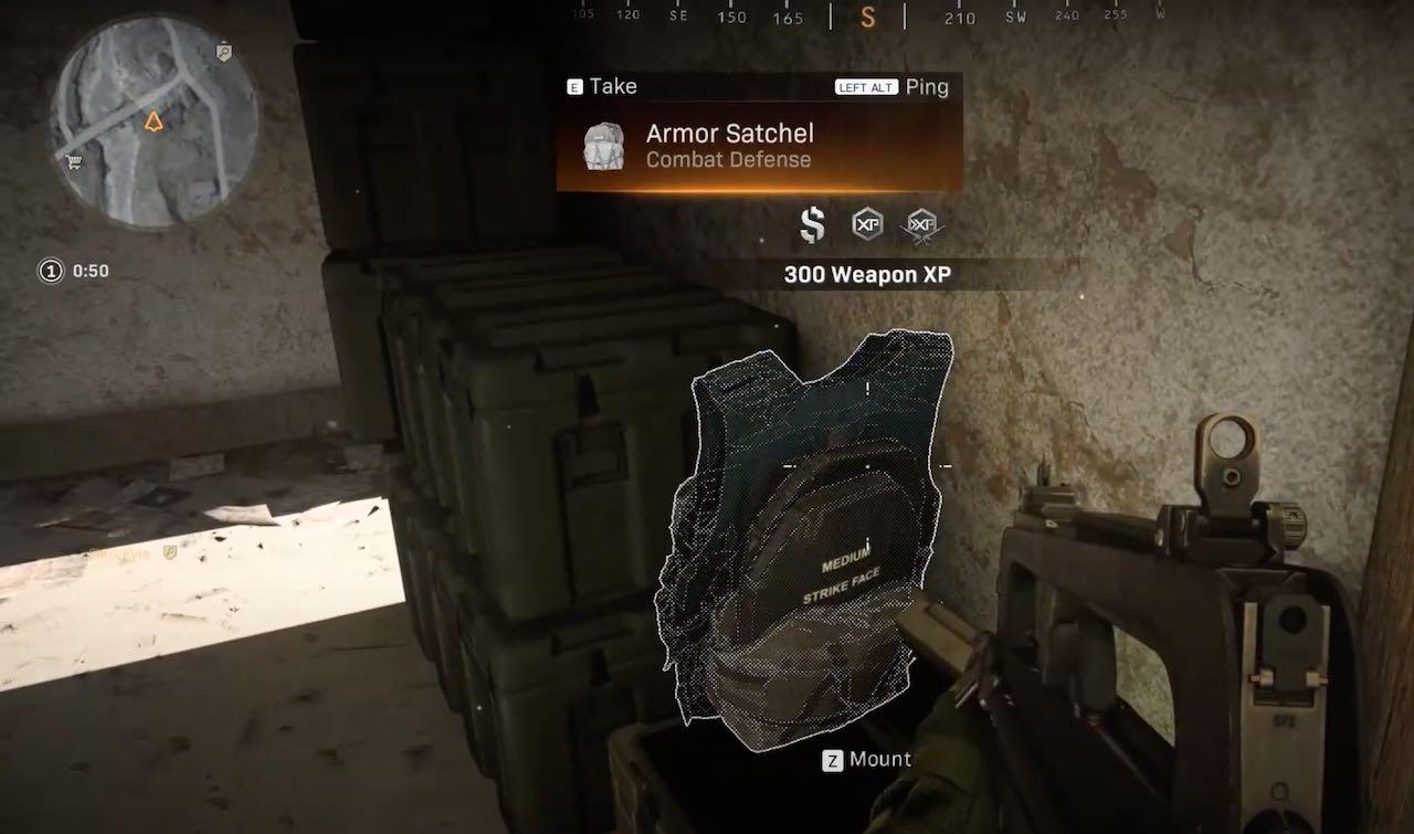 Armor Satchels in Warzone.