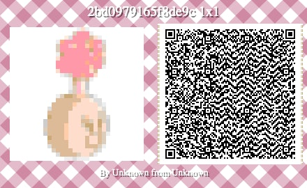 A QR code to create a plumbus in Animal Crossing: New Horizons.