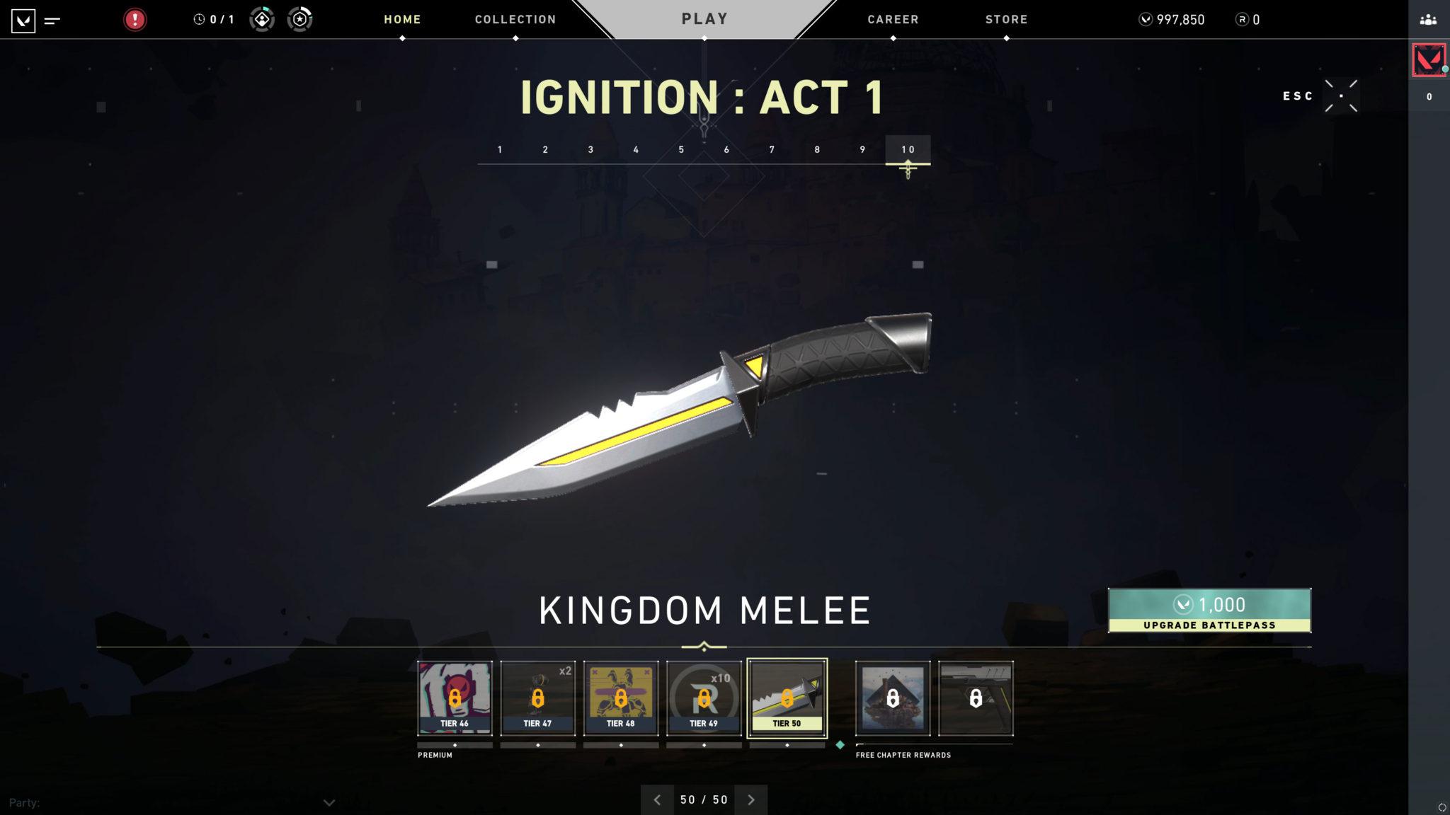 Kingdom Melee knife in Valorant.