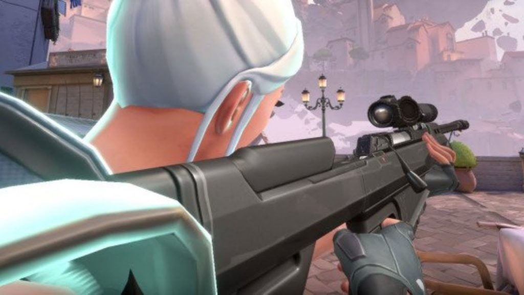 Jett scoped in Valorant's Operator