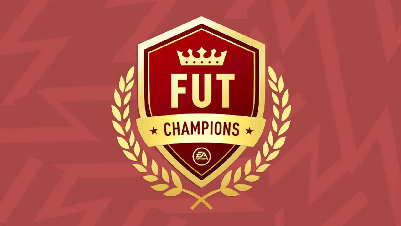 FUT Champs Logo on Red Background