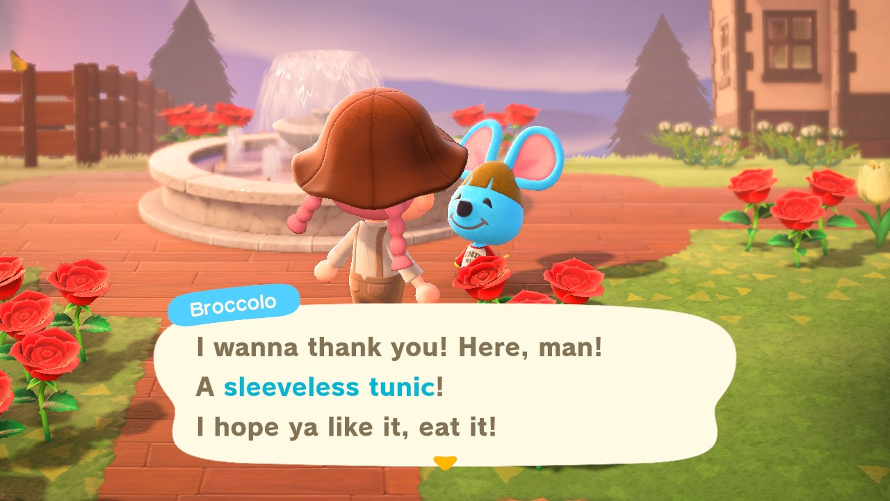 Animal Crossing: New Horizons' Broccolo has a very different kind of catchphrase.