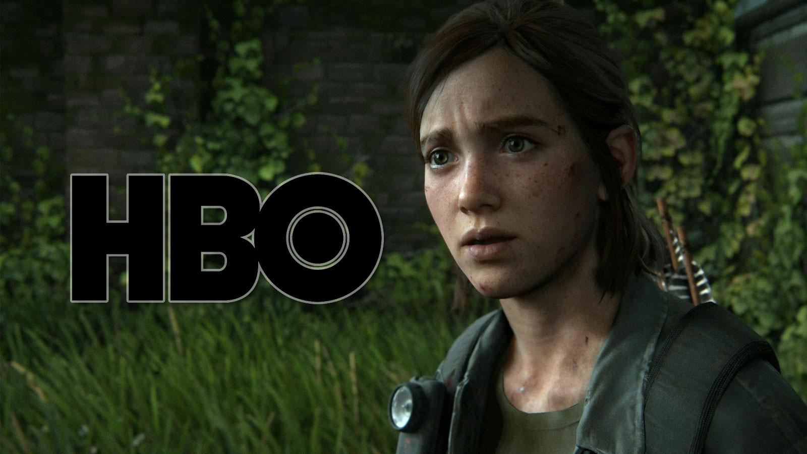 Ellie gasps at the HBO logo