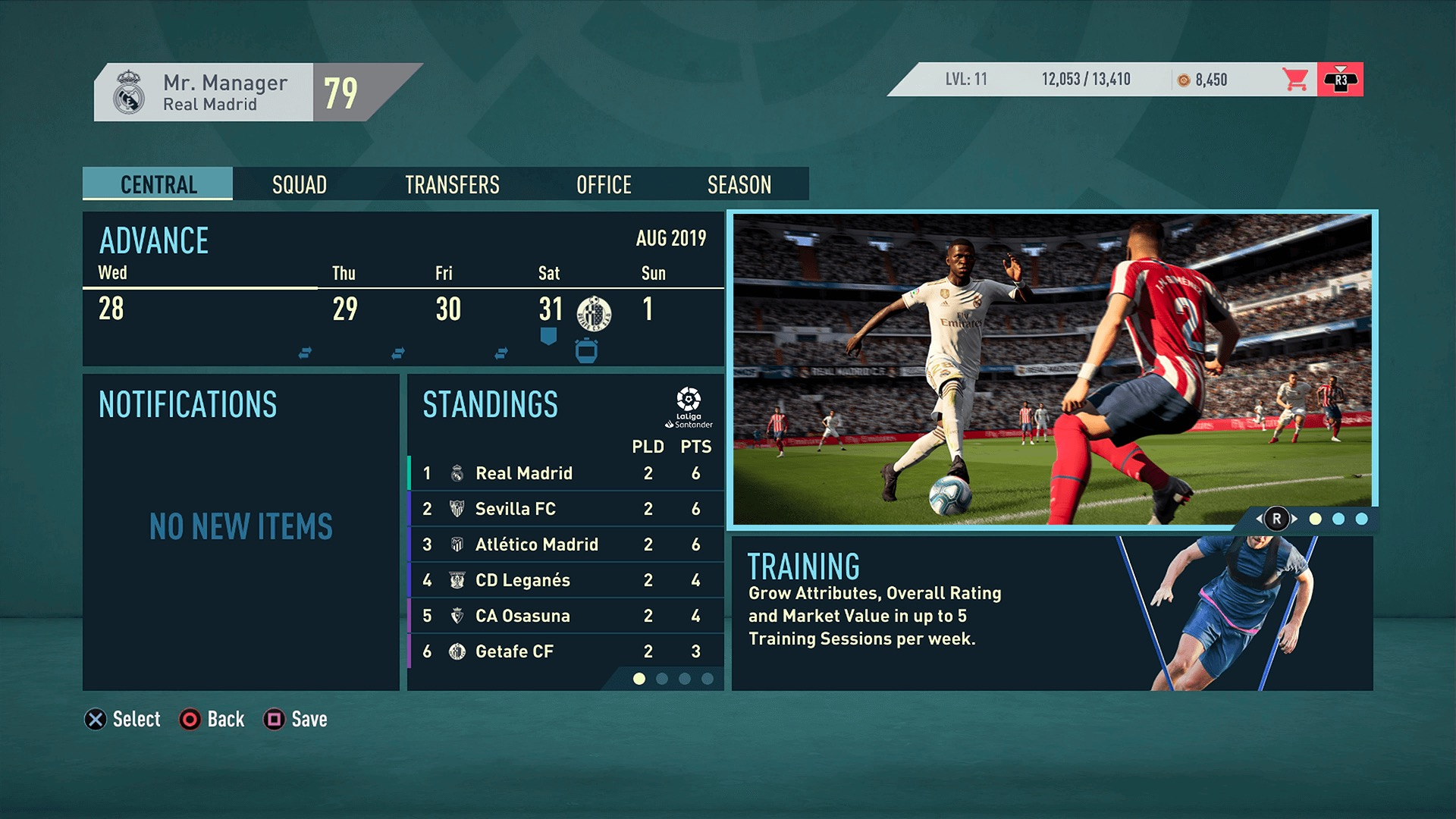 FIFA 20 Career Mode Screenshot