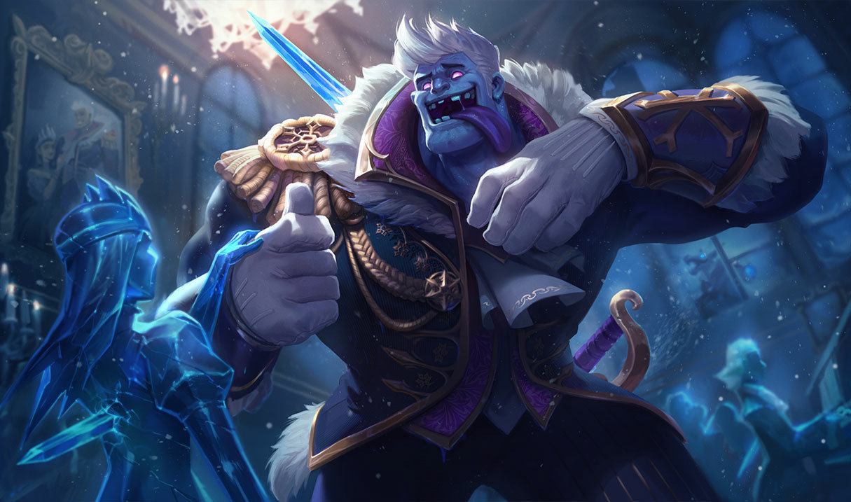Frozen Prince Dr Mundo skin for League of Legends