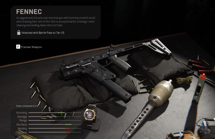 Modern Warfare's new Season 4 gun the Fennec is a remake of Ghosts' Vector SMG.