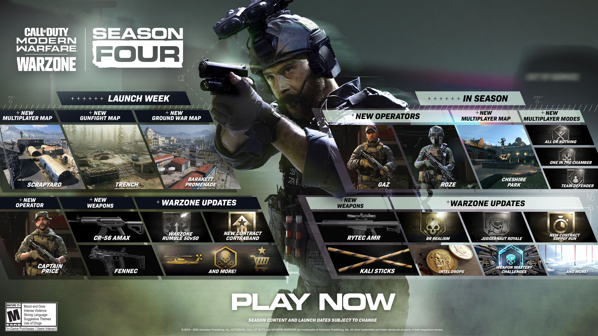 Modern Warfare's Season 4 roadmap