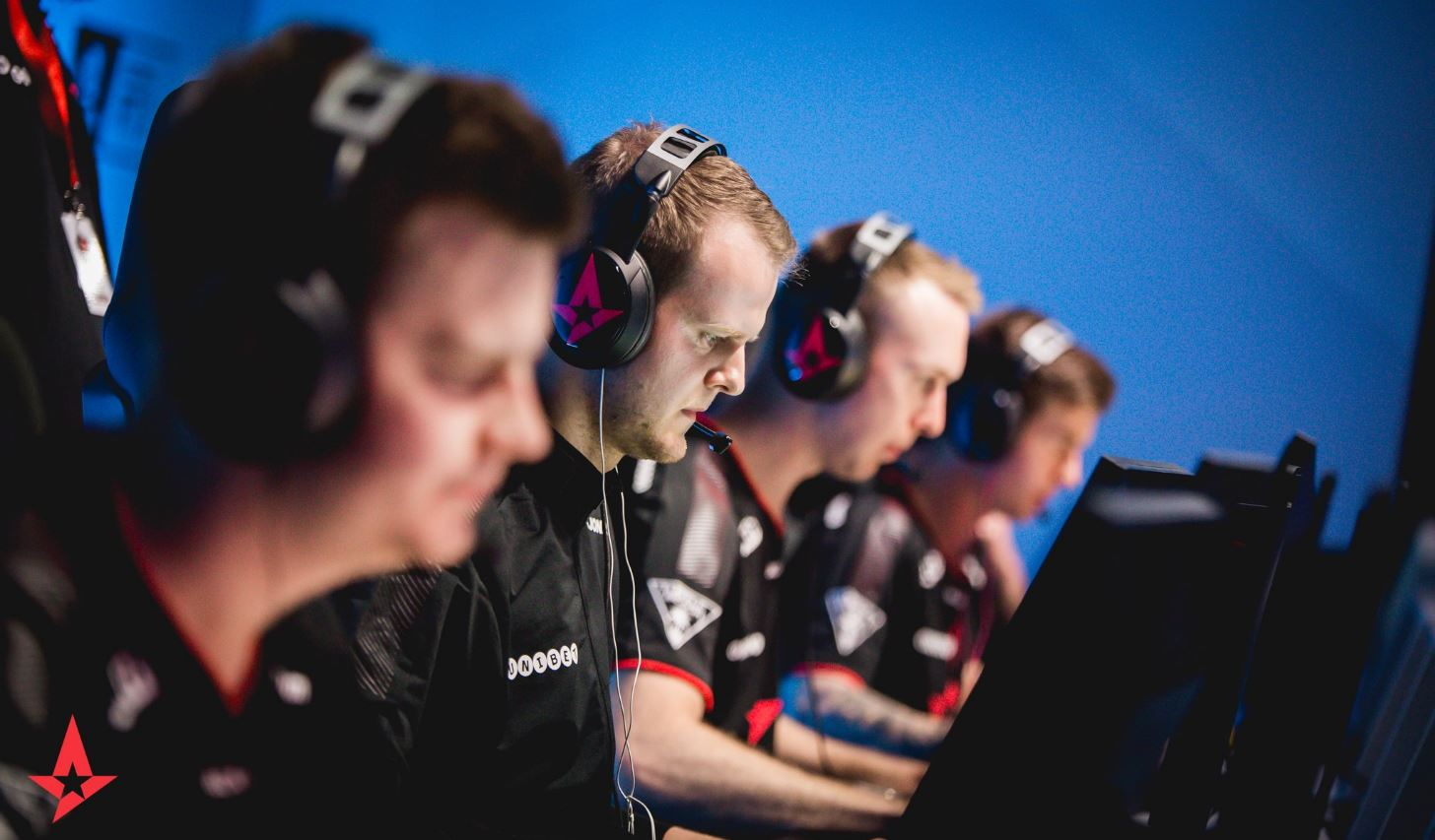 Astralis competing in CS:GO