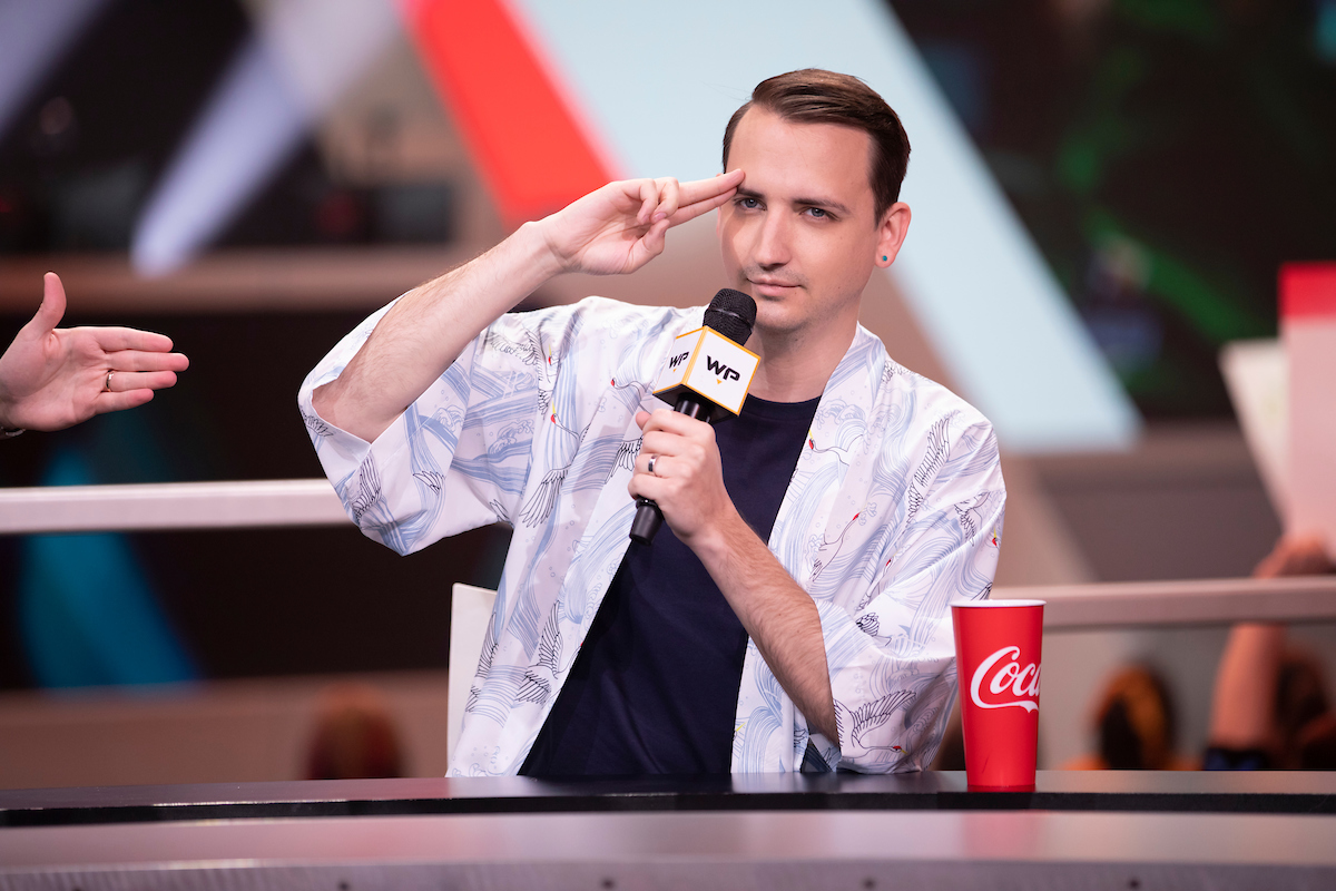 MonteCristo on the analyst desk during Overwatch League.