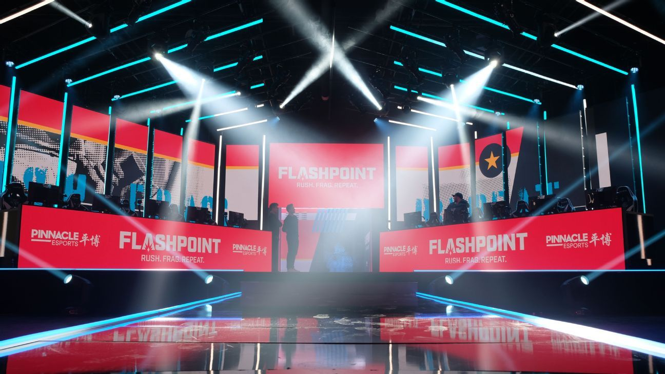 Flashpoint stage during broadcast.