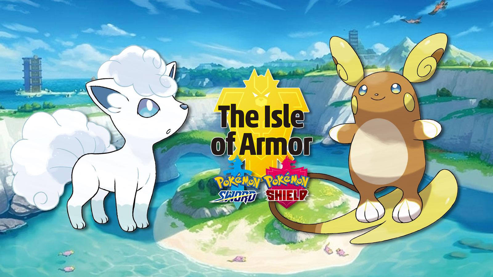 pokemon isle of armor alolan raichu vulpix