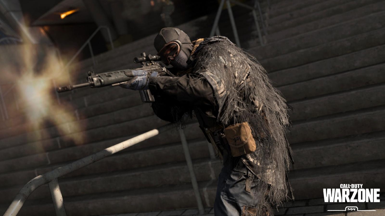 warzone stairs gunfight