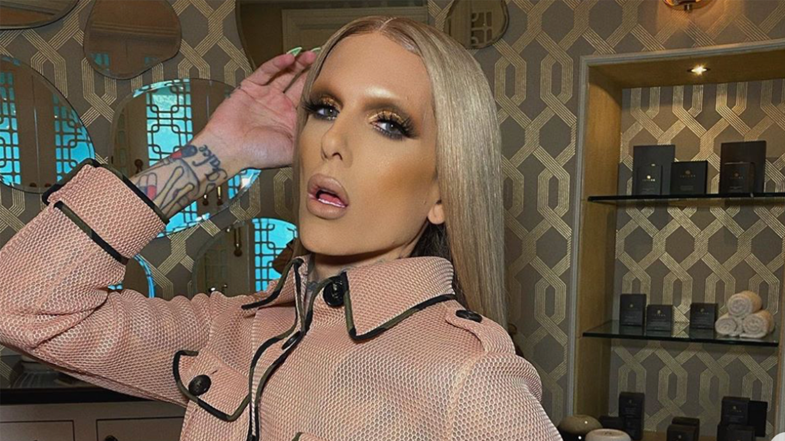 Jeffree Star poses on Instagram