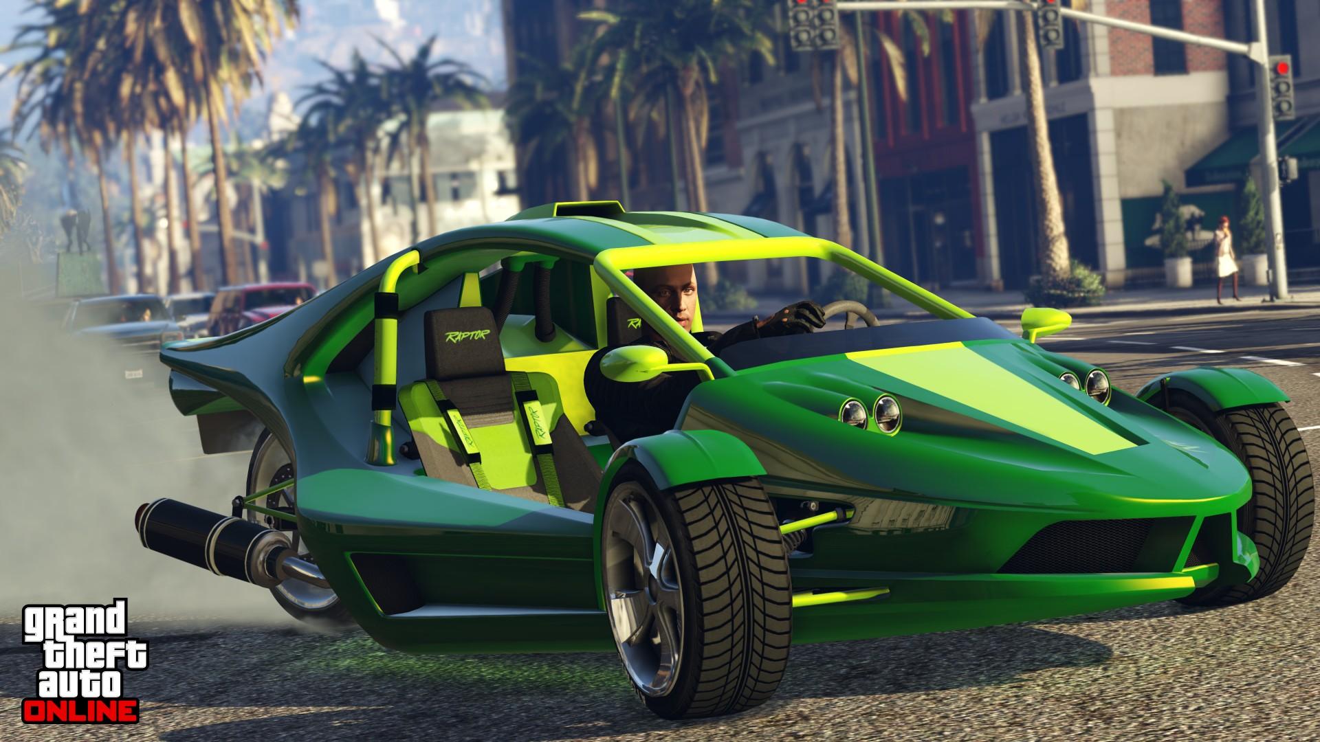 Player driving Raptor in GTA Online