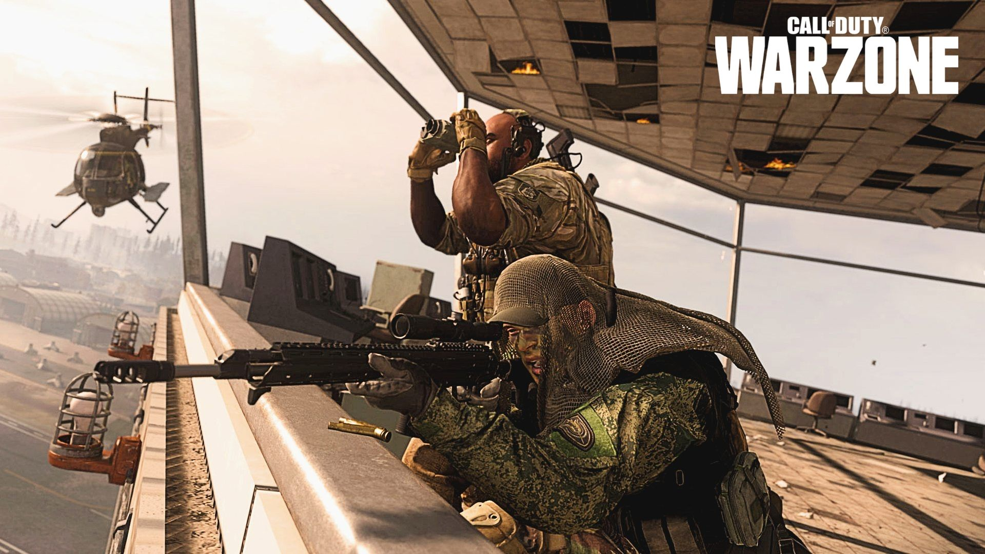 warzone sniper in Airport Tower