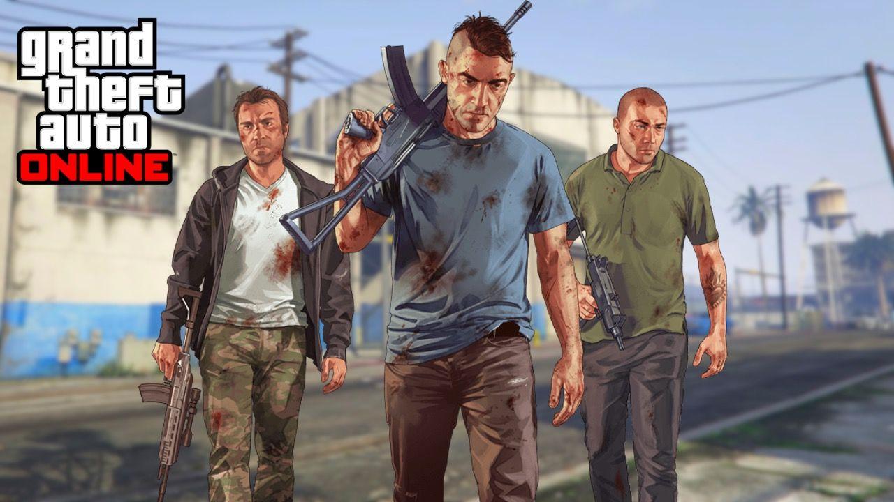 Gangsters carry guns in GTA Online