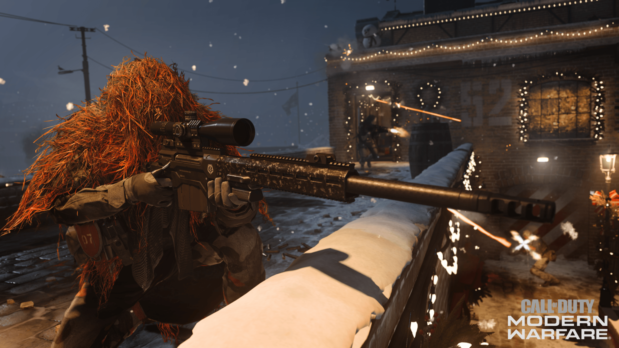 A sniper scropes in on a Warzone map