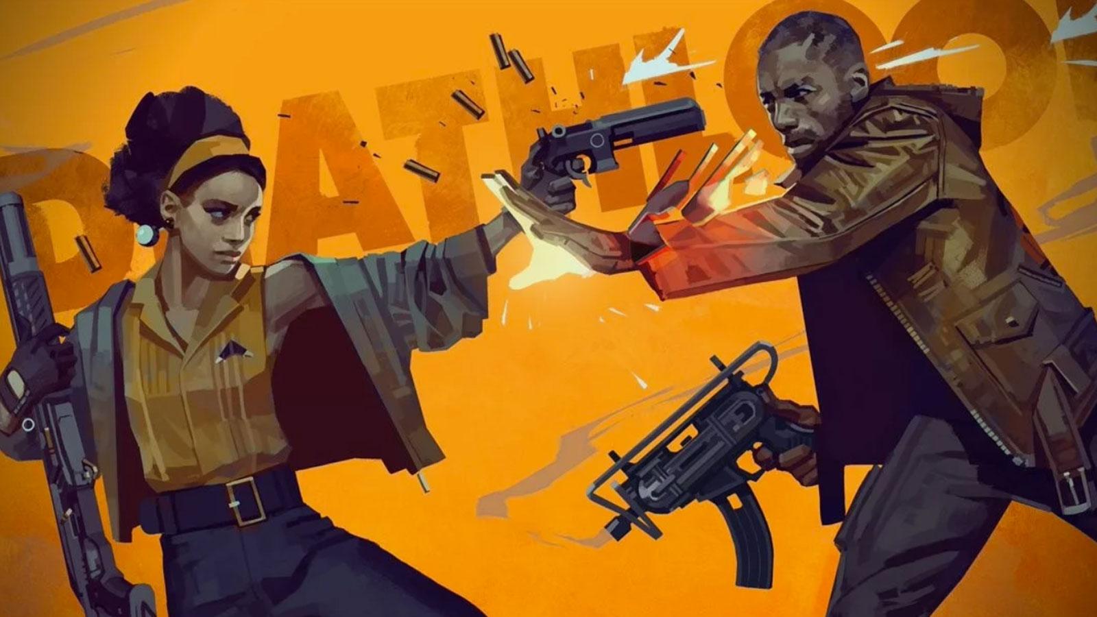 deathloop man and woman guns