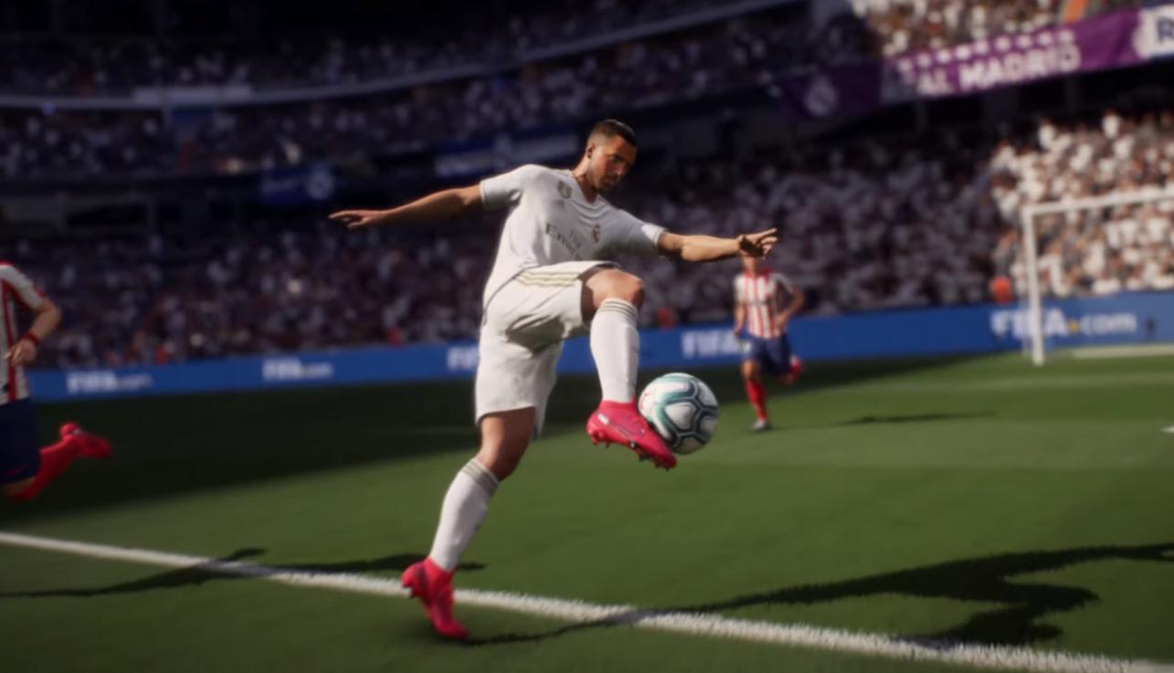Eden Hazard shoots for goals in the FIFA 21 official reveal trailer.