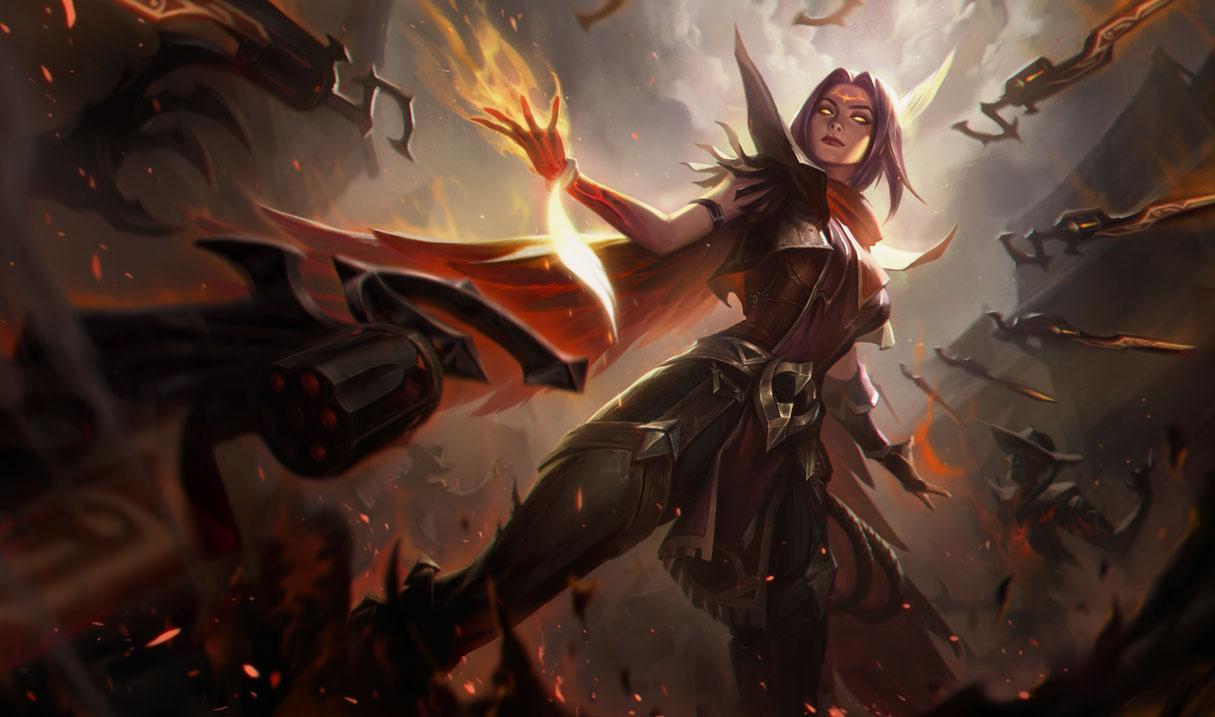 High Noon Irelia splash art for League of Legends