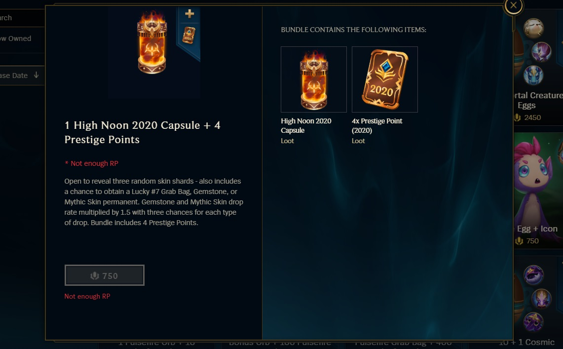 High Noon 2020 event capsules