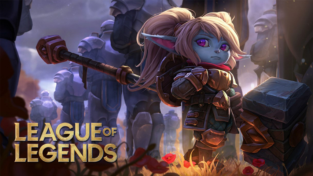Poppy splash art in League of Legends