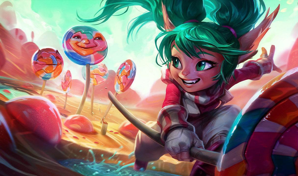 Lollipoppy splash art for League of Legends