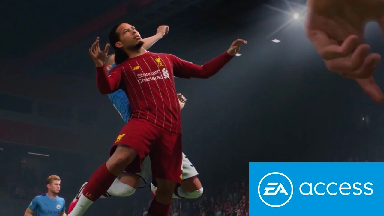 FIFA 21 players with EA Access logo