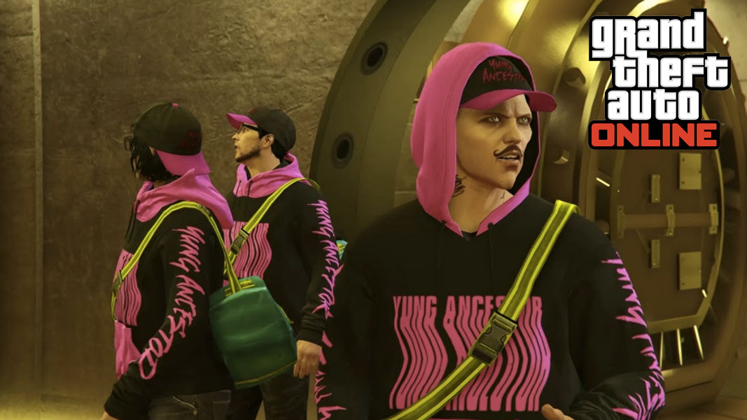GTA Online characters during a heist.