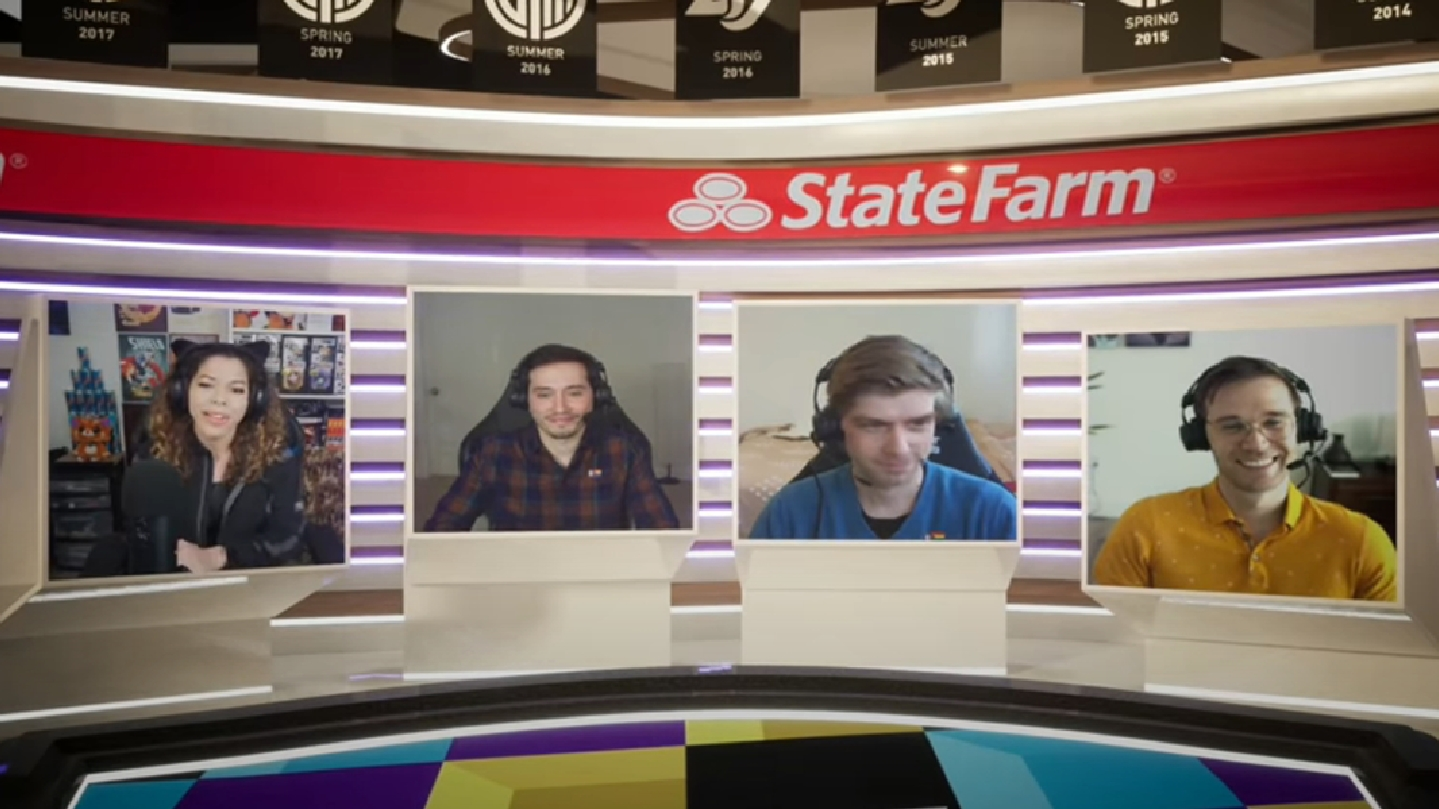 Screenshot of analyst desk from LCS broadcast