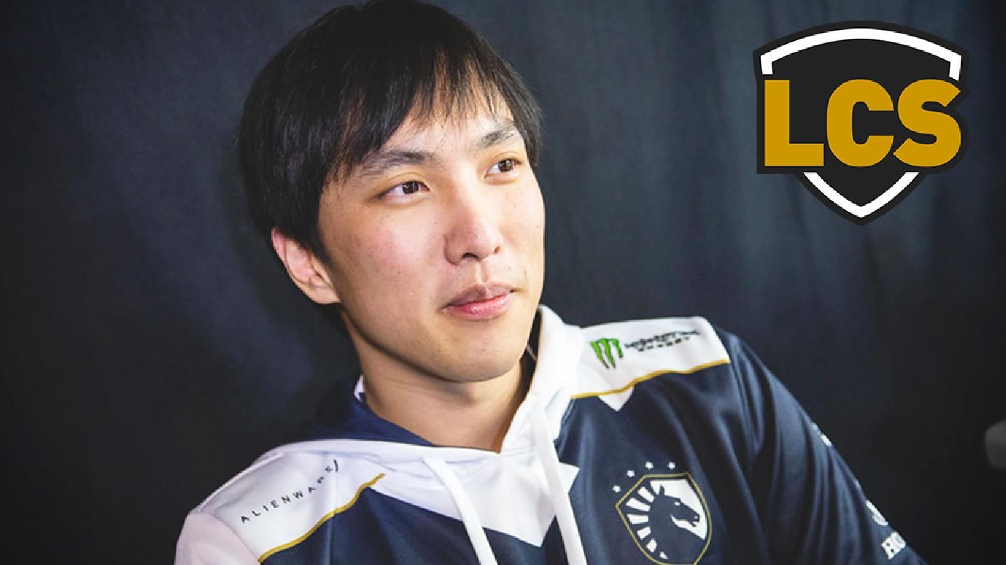 Doublelift in Team Liquid jersey with LCS logo