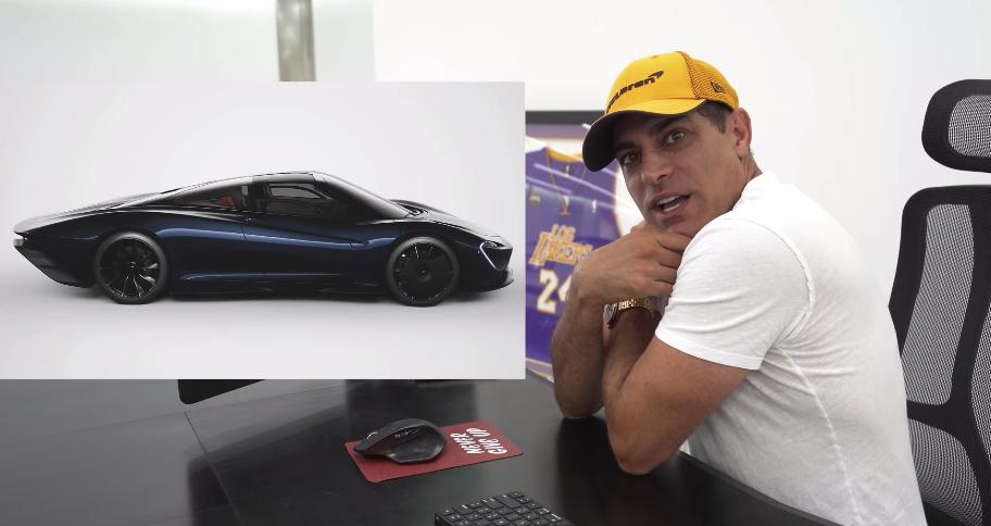 An image of Manny Khosbin showing a McClaren Speedtail