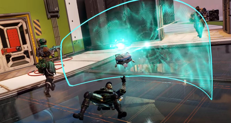 Lifeline reviving teammate in Apex Legends.