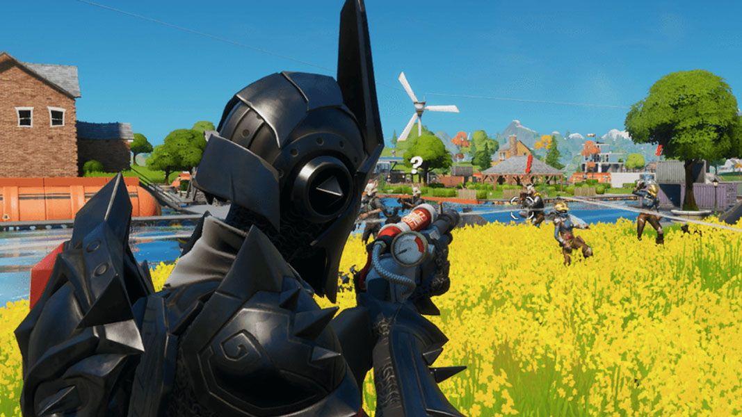 Fortnite character with charge shotgun