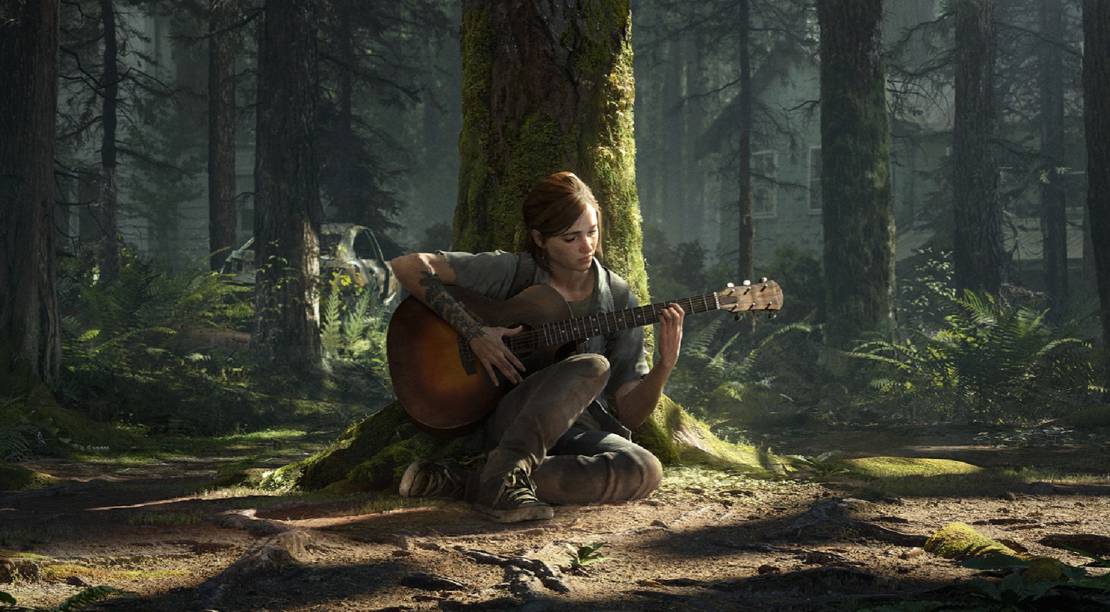 ellie playing guitar the last of us part 2