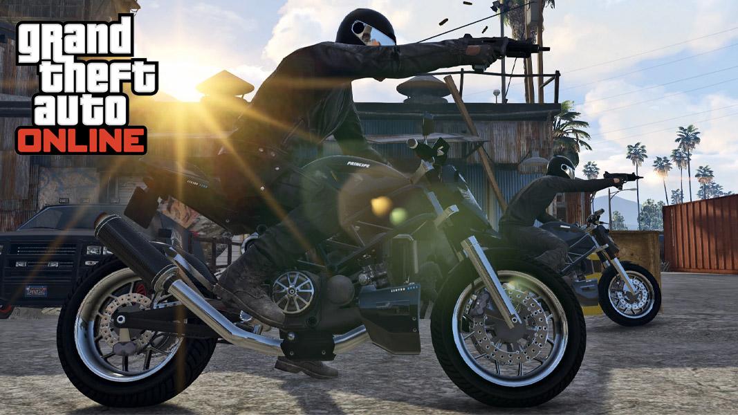 GTA Online screenshot showing a bike
