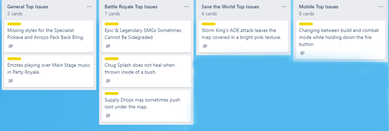 List of bug fixes in Fortnite