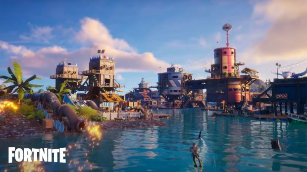 The Agency underwater in Fortnite