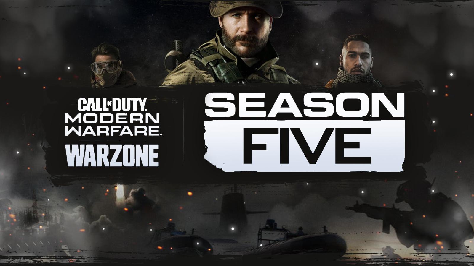 Warzone characters with Season 5 logo