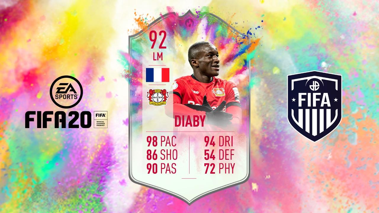 Moussa Diaby's FIFA 20 Summer Heat SBC