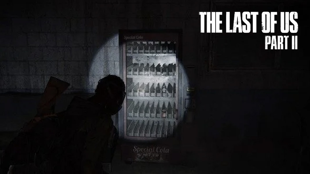 A soda machine in The Last of Us 2