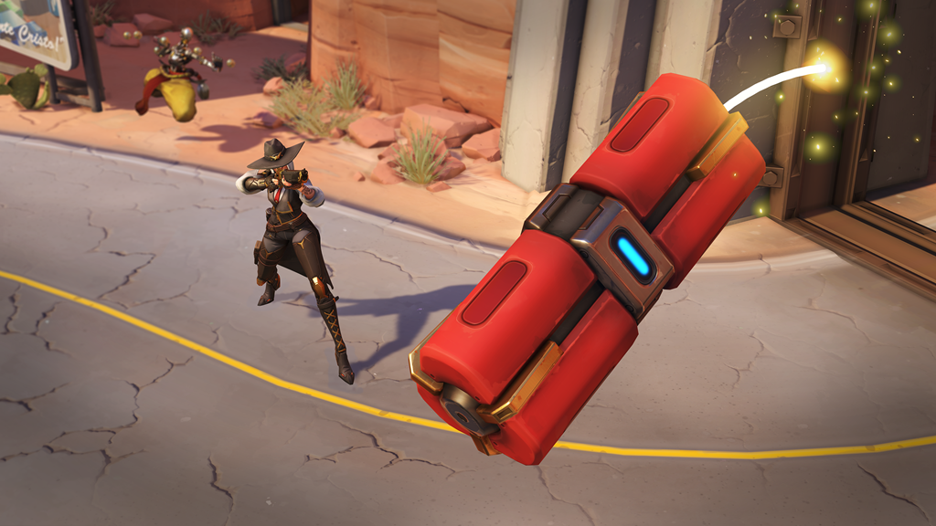 Ashe uses her Dynamite