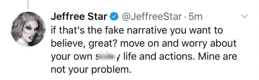 Jeffree Star deleted tweet fan response