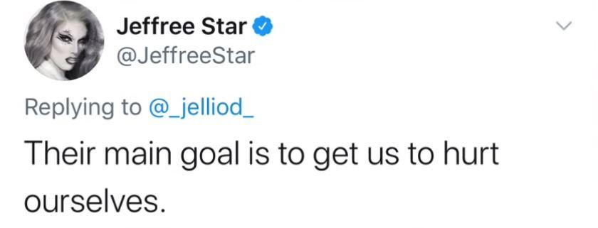 Jeffree Star Tweet drama response