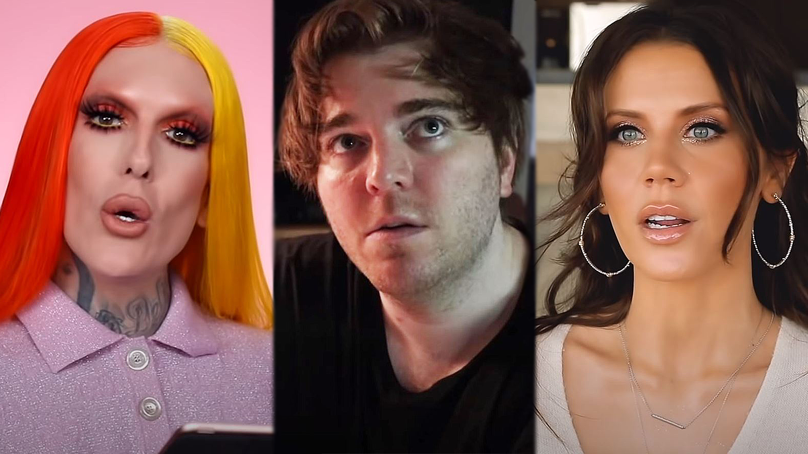 Jeffree Star Shane Dawson Tati Westbrook YouTube stills
