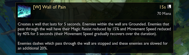Karthus W tool-tip that accidentally appeared on League of Legends PBE.