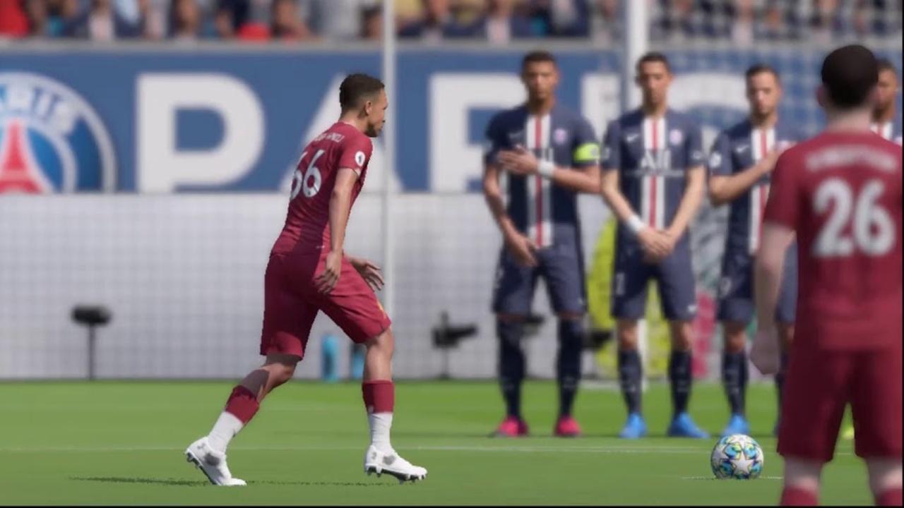trent alexander arnold free kick in fifa 20
